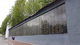 Стена на кладбище в Мурманске